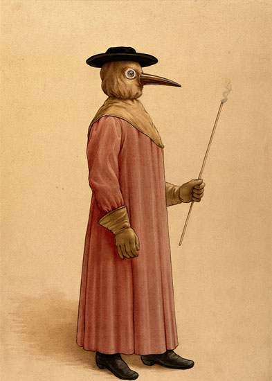 Physician during plague